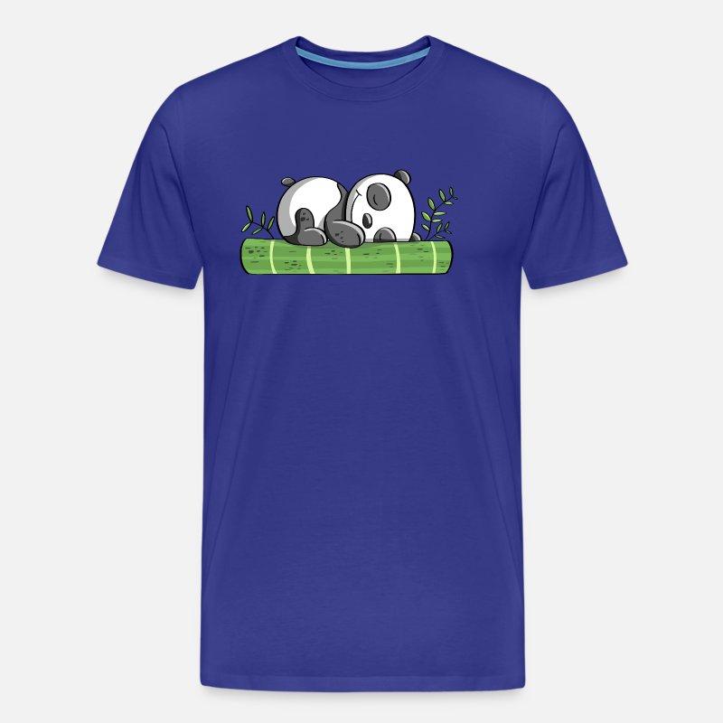 Panda beer in dromenland - Panda - Panda's - Strip Mannen Premium T-shirt -  grijsgroen