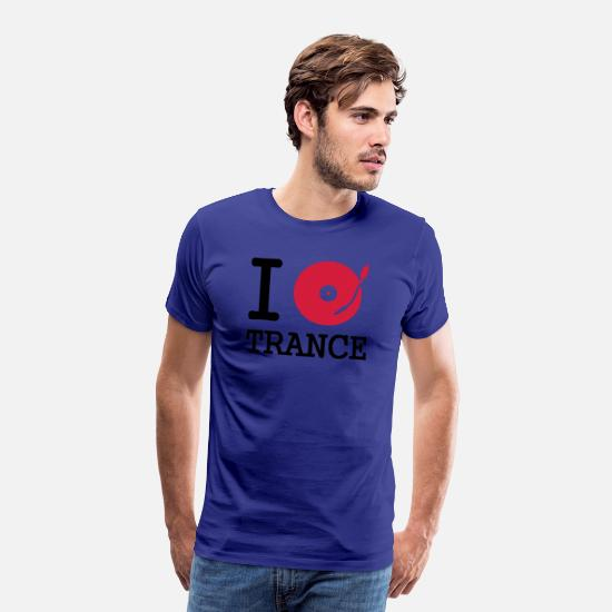Mix T-Shirts - I dj / play / listen to trance - Men's Premium T-Shirt royal blue