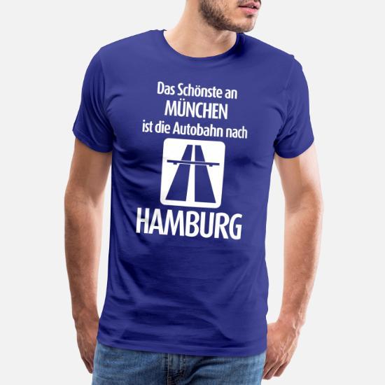Hamburger Herren Fanshirt Fussball Männer T-Shirt Hamburg Fanartikel Fangeschenk