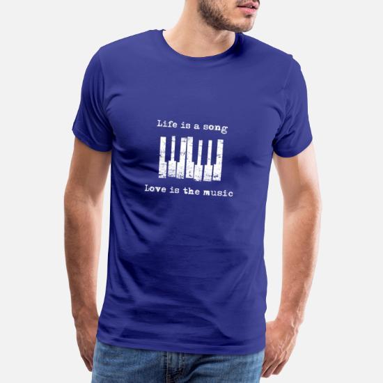 Livet er en sang, Kærlighed er musikken Premium T shirt mænd