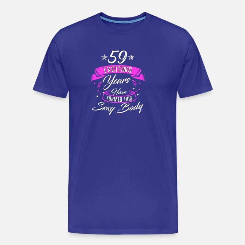 c40476fc06b Verjaardag 59 jaar · overhemd · verjaardag sexy Mannen premium T ...