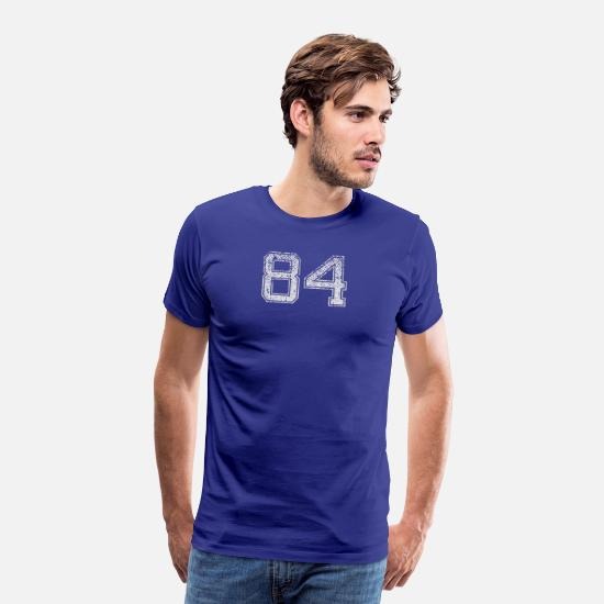 Birthday T-Shirts - Number 84 Number Eighty-Four Eight Four Gift - Men's Premium T-Shirt royal blue