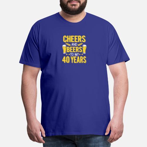 40th Birthday Gift Mens Premium T Shirt