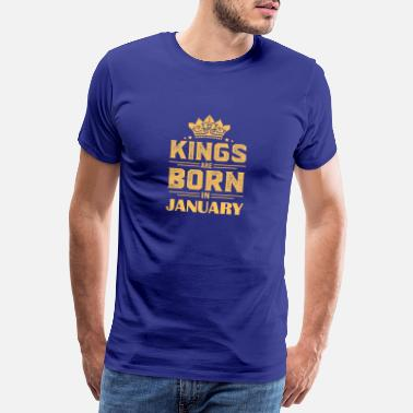 Born In January Gift for January born, born in January - Men's Premium T-Shirt