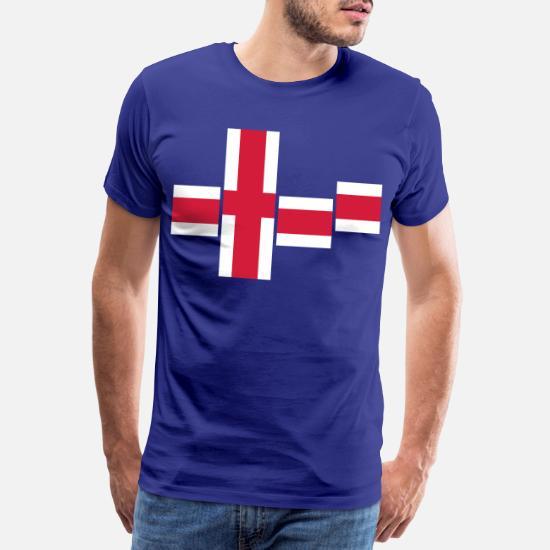 Island flagga blå Premium T shirt herr | Spreadshirt