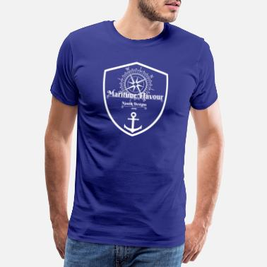 Skipper Sailor maritime nautique design blanc - T-shirt Premium Homme