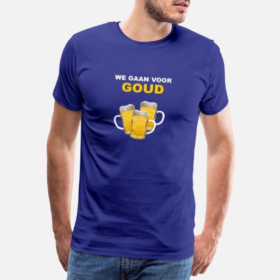 We Gaan Voor Goud Mannen Premium T Shirt Spreadshirt