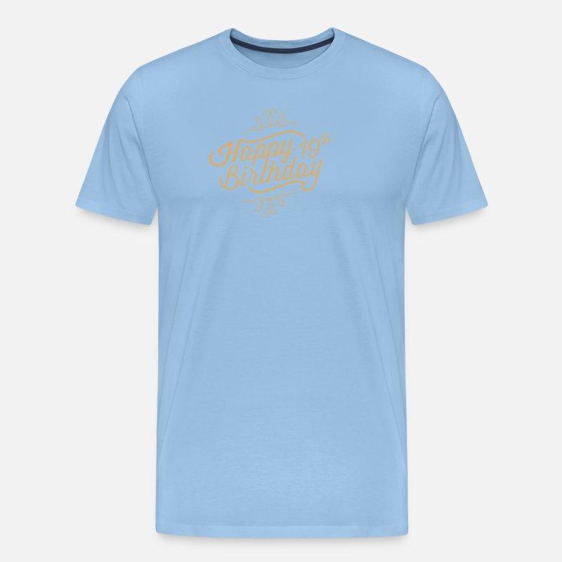 Gefeliciteerd Met Je 19e Verjaardag Mannen Premium T Shirt Spreadshirt