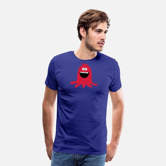 Bestsellers Q4 2018 T-Shirts - Lustiges & Niedliches Farb Klecks Monster - Men's Premium T-Shirt royal blue