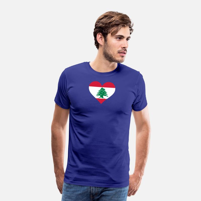 Mosque T-Shirts - A Heart For Lebanon - Men's Premium T-Shirt royal blue