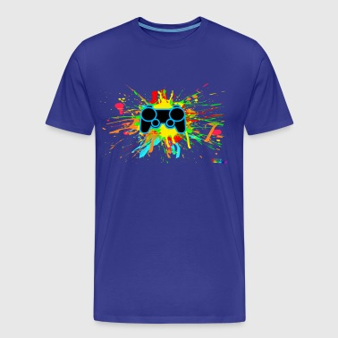 Controller Splatter Gamer - Men's Premium T-Shirt