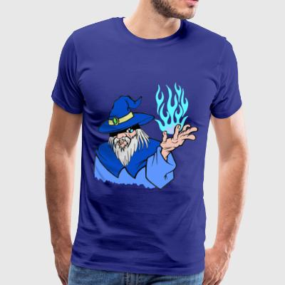 Willpower Blue Wizard / Light Blue Flame - No Text - T-shirt Premium Homme