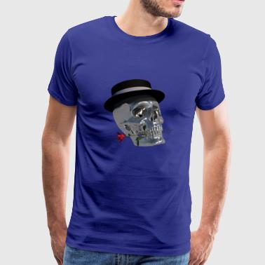 Gentlemans Skull - Premium T-skjorte for menn