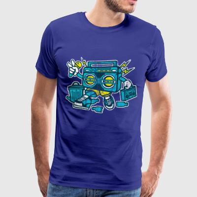 BOOMBOX - cartoon comic character shirt motif - Men's Premium T-Shirt