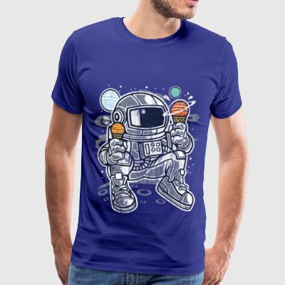 ICE Astronaut - Kosmonauta Comics Cartoon Shirt - Koszulka męska Premium