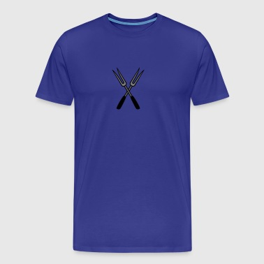 Barbecue Forks - Mannen Premium T-shirt