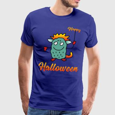 Happy Halloween - Drage Monster - Premium T-skjorte for menn