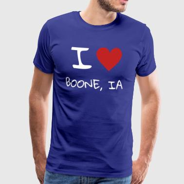 I love Boone Iowa - Men's Premium T-Shirt