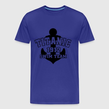 Titanic 1912 SwimTeam - Premium-T-shirt herr
