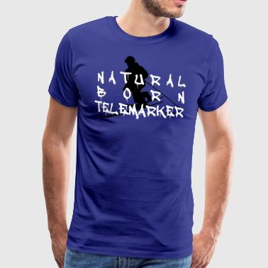 natural born telemarker1 - Men's Premium T-Shirt