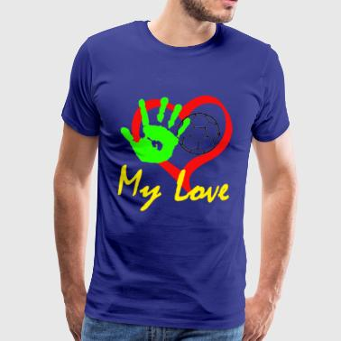 Hand ball my Love - T-shirt Premium Homme