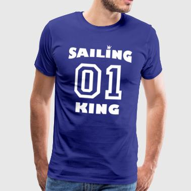 Sailing King with crown - white - Men's Premium T-Shirt