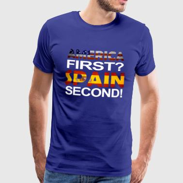 America First spain second - Men's Premium T-Shirt