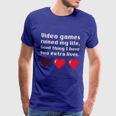 gamer T-shirt games ruined my life - Männer Premium T-Shirt