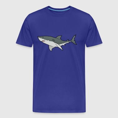 Great White Shark - Ocean - Sea T-Shirts - Premium-T-shirt herr