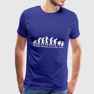 Darwin's Human Evolution From Ape To Digital Man. - Men's Premium T-Shirt