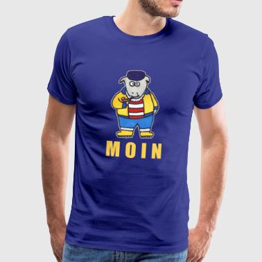 Moin coastal sheep | North North Sea Baltic Sea port - Men's Premium T-Shirt