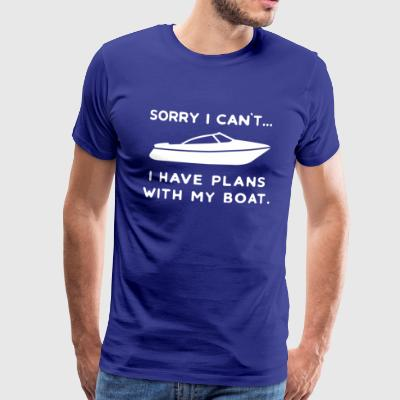 Boat yacht powerboat ship boater sea port - Men's Premium T-Shirt