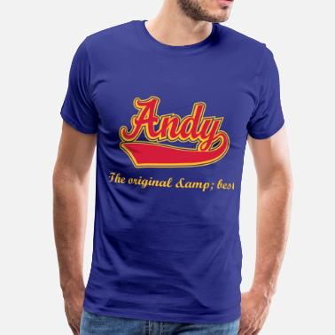 Andy Andy - Name as a sport swash. - Men's Premium T-Shirt