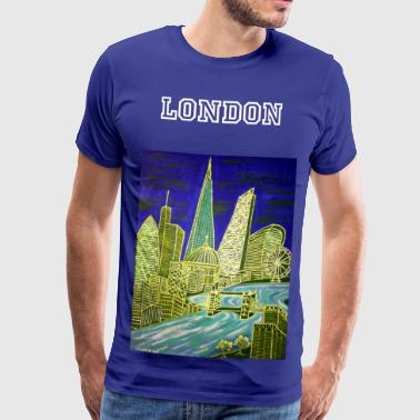 The Gherkin London Skyline - Men's Premium T-Shirt