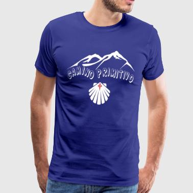 Way of St. James Scallop Camino de Primitivo - Men's Premium T-Shirt
