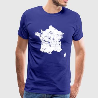 Vintage Map of France - Premium-T-shirt herr