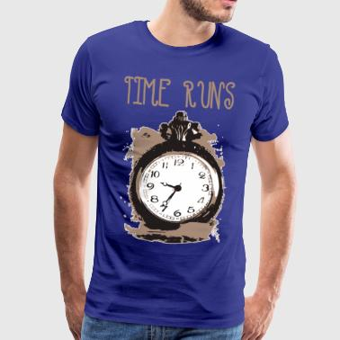 time is running - Men's Premium T-Shirt