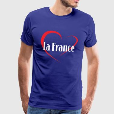 I Love La France - Premium T-skjorte for menn