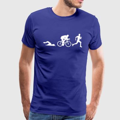 52371401 Triathlon silhouettes Stock Vector triath - Men's Premium T-Shirt