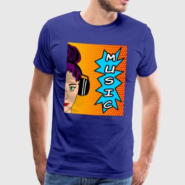 pop art music - Männer Premium T-Shirt
