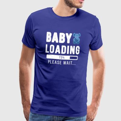 Baby'loading ... please wait baby | baby shirt - Mannen Premium T-shirt