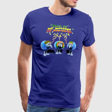 three little RASTA birds - Männer Premium T-Shirt