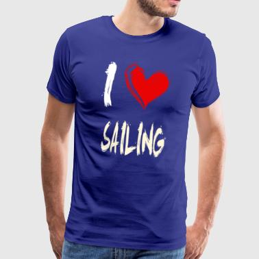 I love sailing - Men's Premium T-Shirt
