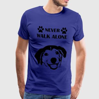 dog-never-walk-alone - Männer Premium T-Shirt