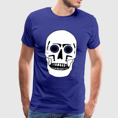 Skull - black-white-flexible - Men's Premium T-Shirt