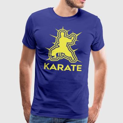 KARATE • LOGO-01 - Premium T-skjorte for menn