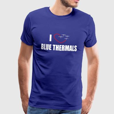 I love blue thermals soaring flyer saying gift - Men's Premium T-Shirt