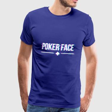 Pokerface - Premium T-skjorte for menn