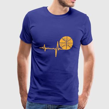 Gave Heartbeat Basketball - Herre premium T-shirt