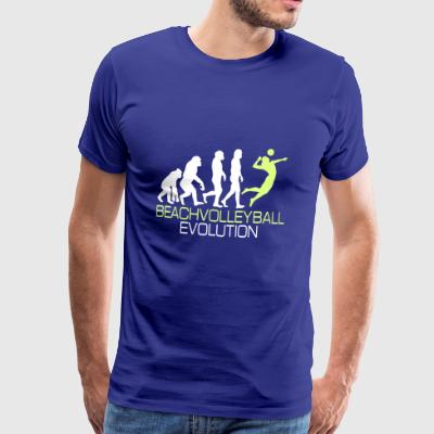 Evolution - Beachvolleyboll T-shirt present - Premium-T-shirt herr